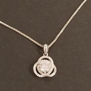 ♡Elegant  Stamped Sterling Silver Necklace♡